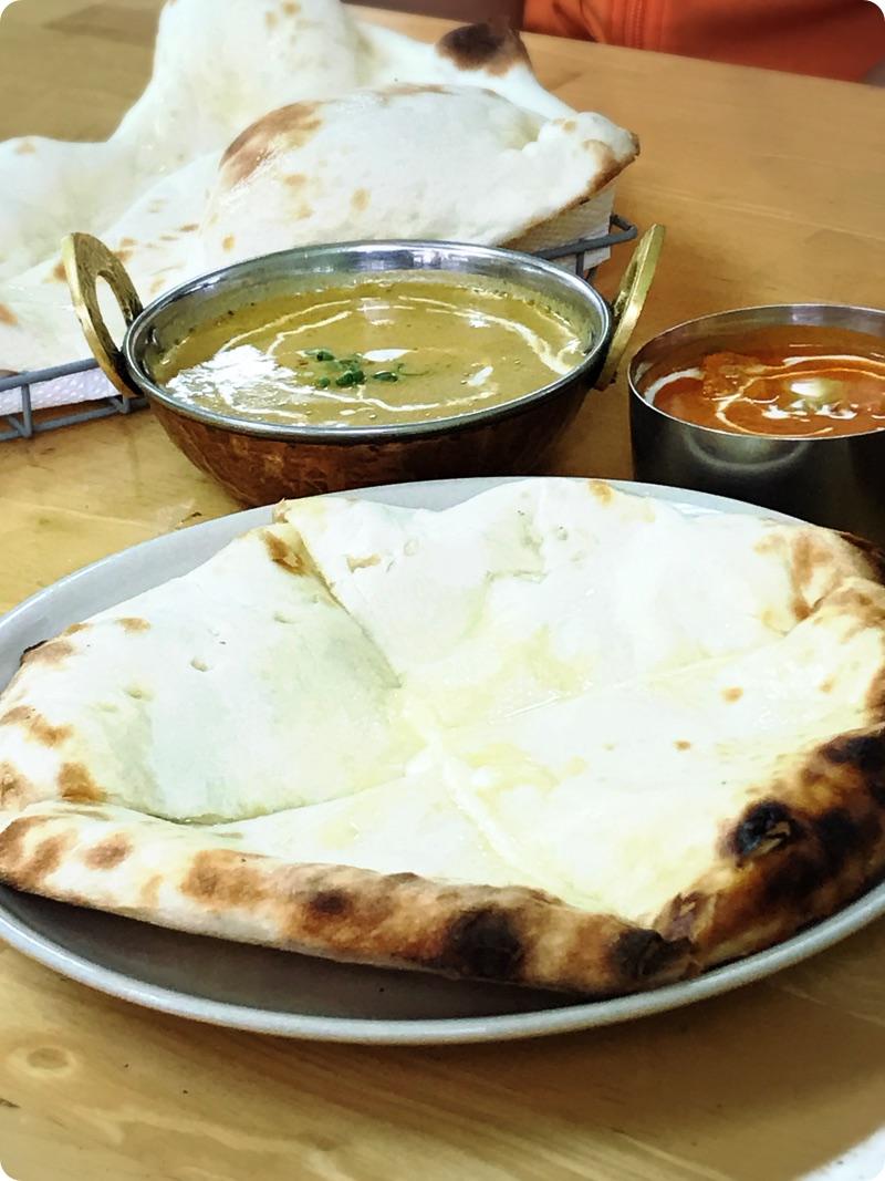 【ランチ部】インド食堂 カマル Cセット+チーズナン 1,320円