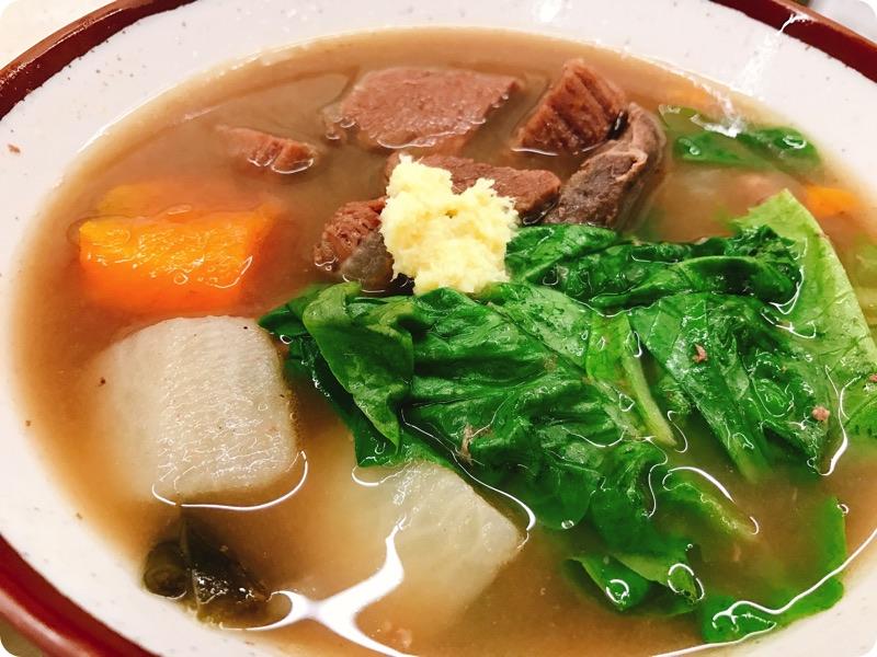 【ランチ部】あさひ食堂 牛汁定食 900円