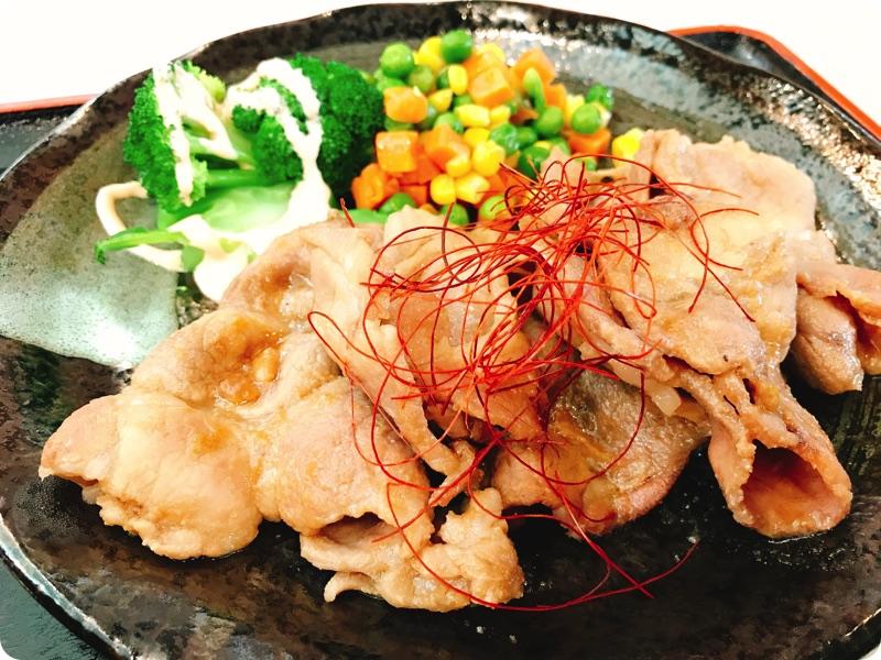 【ランチ部】石垣島食堂 豚の生姜焼き定食 350円