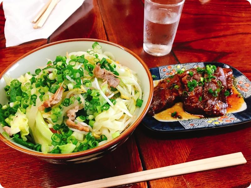 【ランチ部】明石食堂 野菜そば+ソーキ