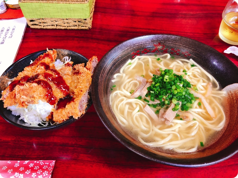【ランチ部】やいま食堂 ミニソースカツ丼 八重山そばセット 750円