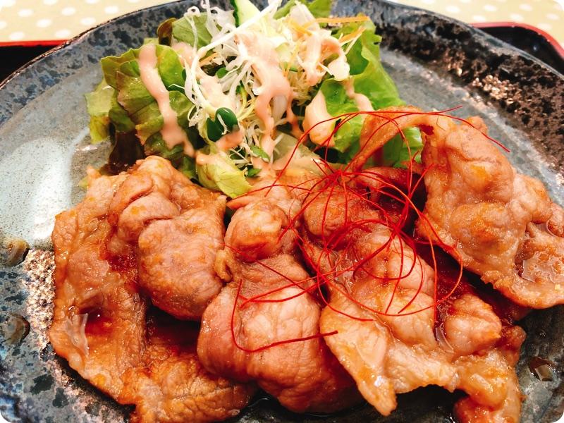 【ランチ部】石垣島食堂 豚のしょうが焼き 390円