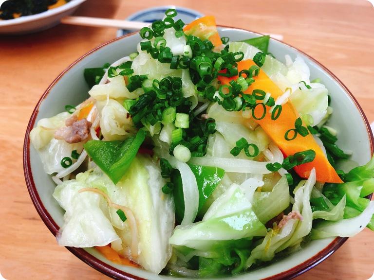 【ランチ部】明石食堂 野菜そば(小) 550円