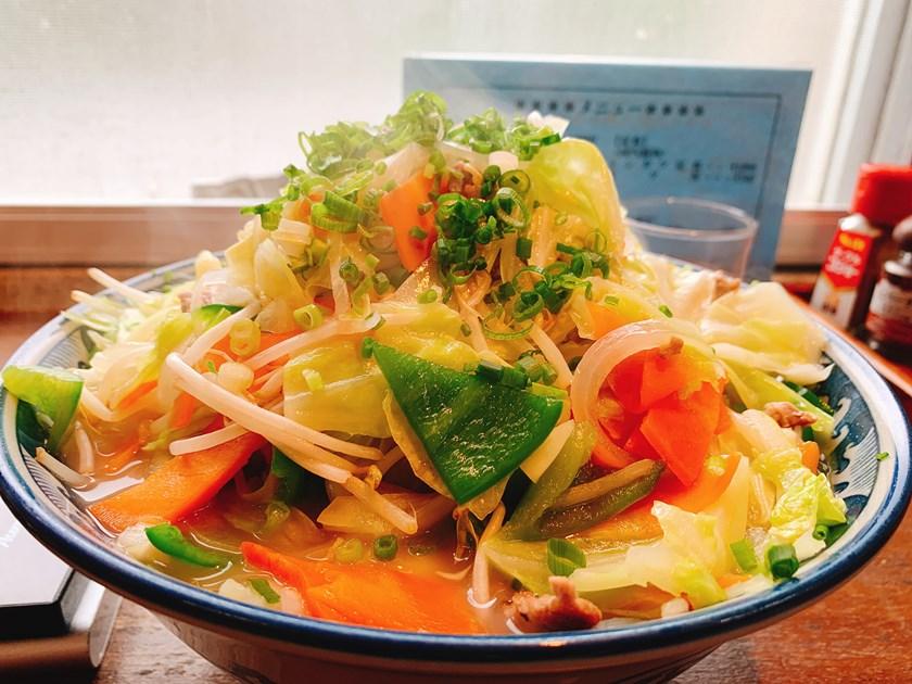 【ランチ部】明石食堂 野菜そば 大 850円
