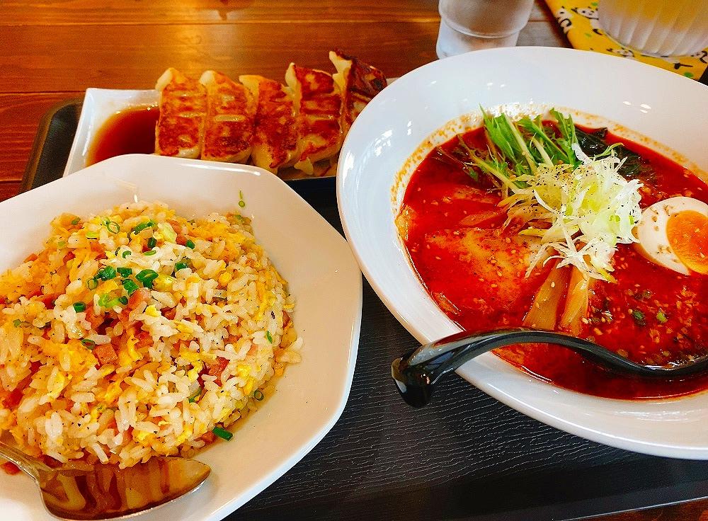 【ランチ部】パンダ食堂 ピリ辛ラーメン3点セット 1,100円