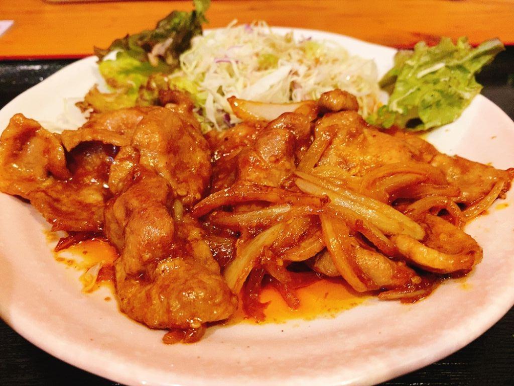【ランチ部】あらかわ食堂 豚みそ炒め定食 800円