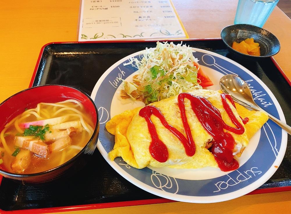【ランチ部】お食事処るんるん オムライス定食 750円