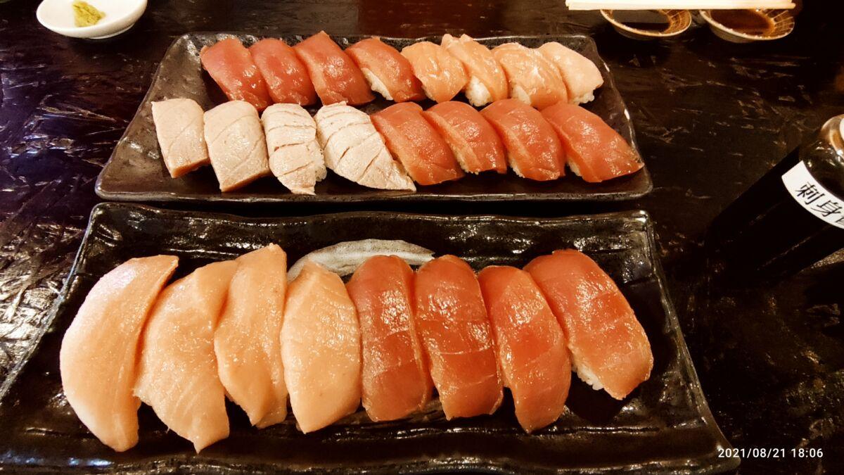 【夕食部】鰓呼吸 ホンマグロ食べ放題 1,318円